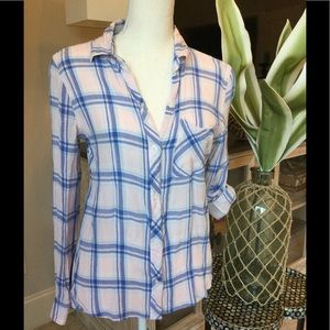 KENNETH COLE  Reaction lightweight plaid shirt